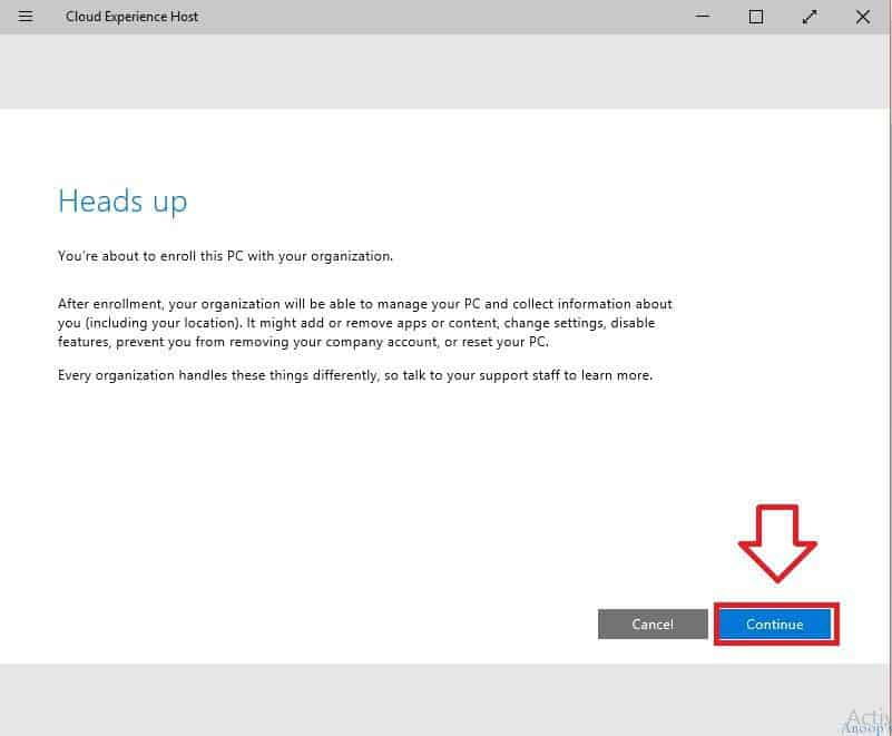 Connect To Cloud Option in Windows 10-2 What is Connect to Cloud Option or Cloud Experience Host in Windows 10