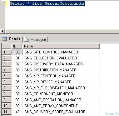 Select-Server Components-SCCM2012-SQL