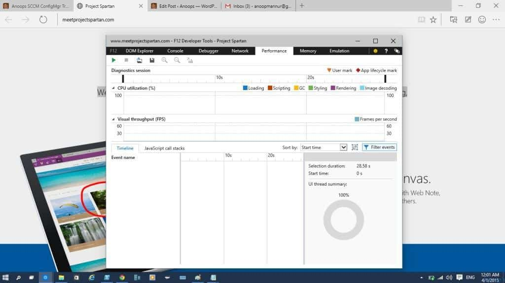 Walk Through of New Edge Browser with Windows 10