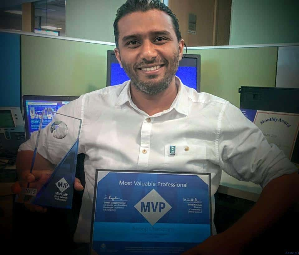 Microsoft MVP 2015 Most Valuable Professional | First MVP Award
