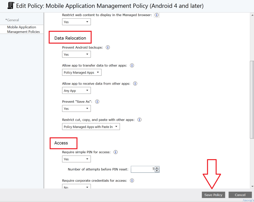How to Create MAM iOS Android policy in Microsoft Intune-6
