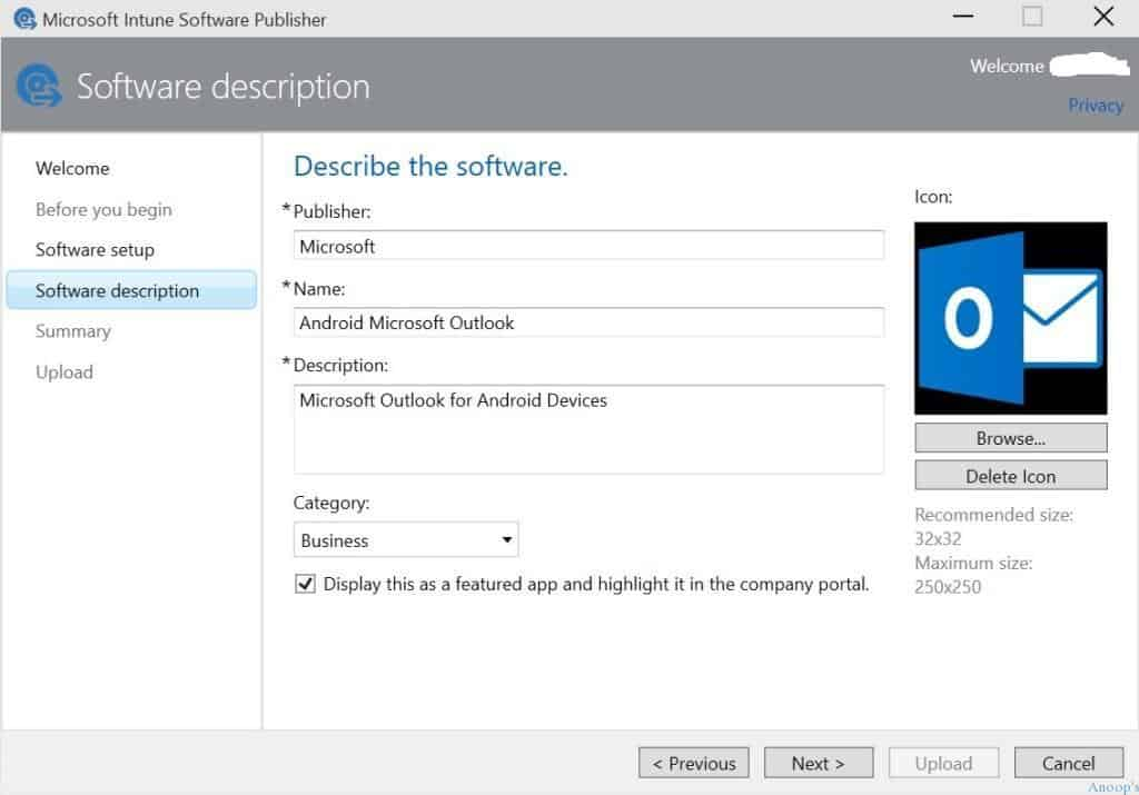 How to Upload Android Application to Microsoft Intune-3