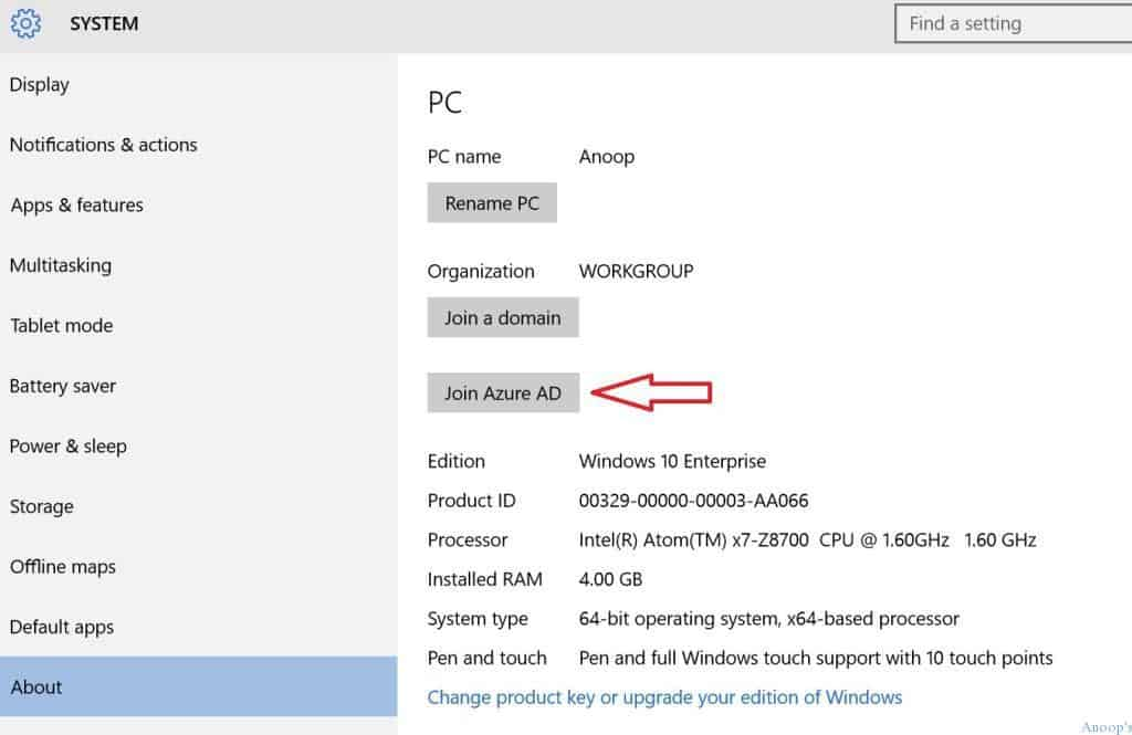 Windows 10 RTM - Azure AD Join -2