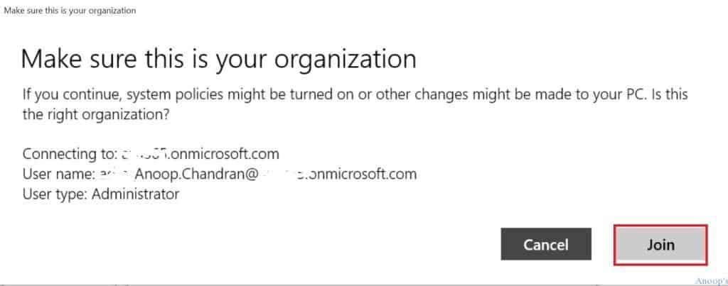Windows 10 RTM - Azure AD Join -5