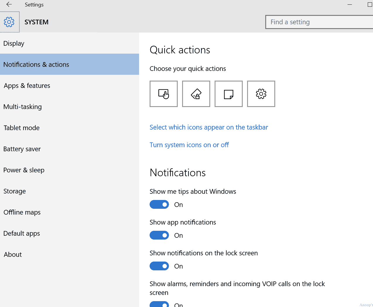 Windows 10 command line shortcuts or run commands with settings menu