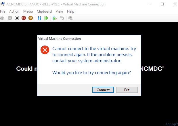 Tips about Windows 10 HyperV Virtual Machine Connectivity Issue