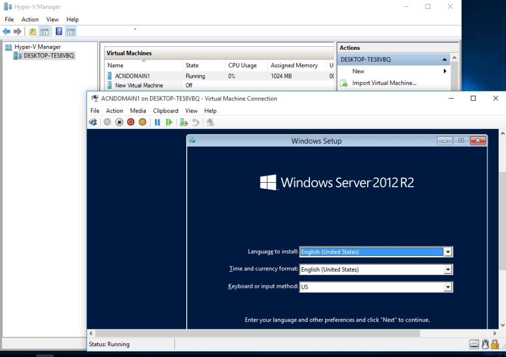Windows 10 Hyper-v Issue -1