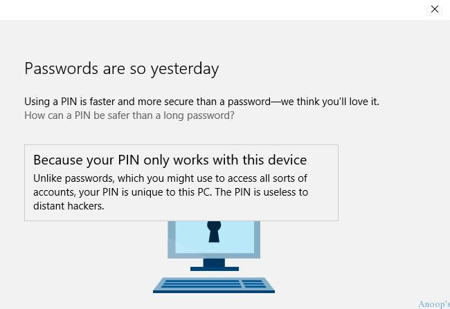 What is Windows 10 PIN How to Set PIN for Windows 10 Devices Machines
