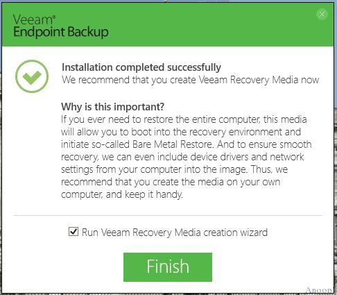 Veeam Endpoint Backup for Windows 10-3