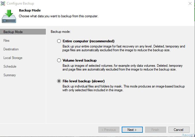Veeam Endpoint Backup for Windows 10-9