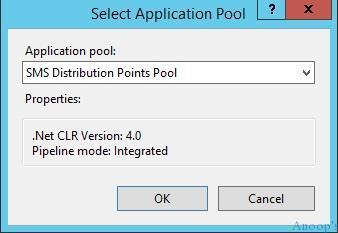 SCCM IIS Configurations