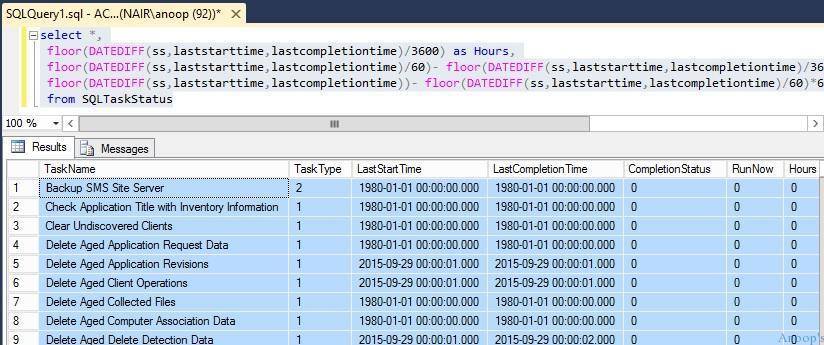 How to Check Verify the Status of SCCM Predefined Maintenance Tasks 1