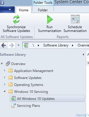 SCCM 2016 Windows 10 Servicing vNext TP3-61