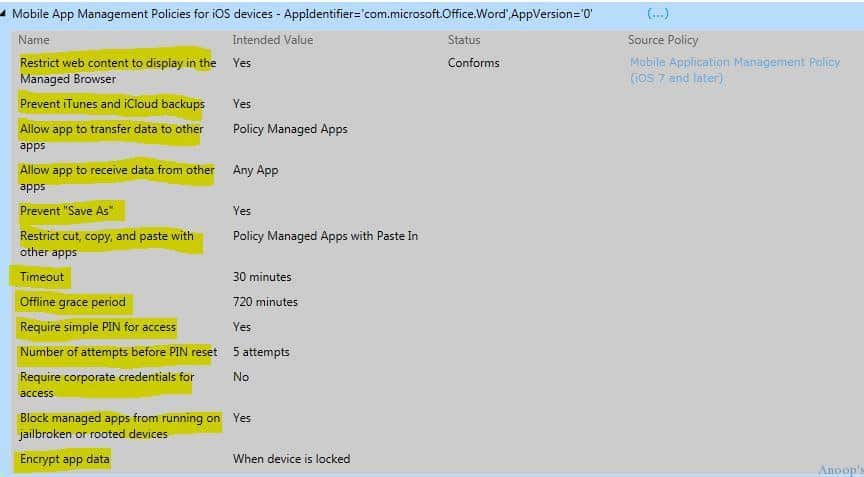 Intune MAM Policy Error-common Issue-01