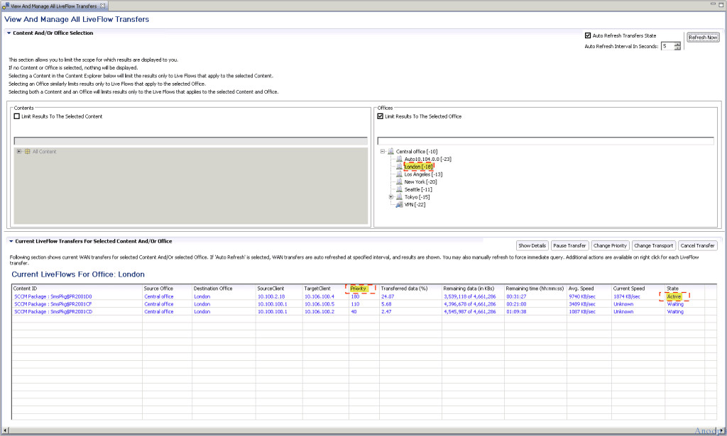1_LiveFlowStatsToLondonHL How to Get Visibility Control on SCCM Content Over WAN Traffic Configuration Manager Endpoint Manager
