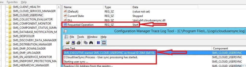 Restart SCCM Executive Threads Via Registry-5 How to Restart SMS Executive Threads Cloud User Sync from Registry ConfigMgr Configuration Manager