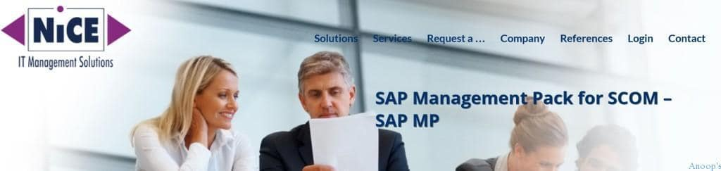 SCOM MP for SAP