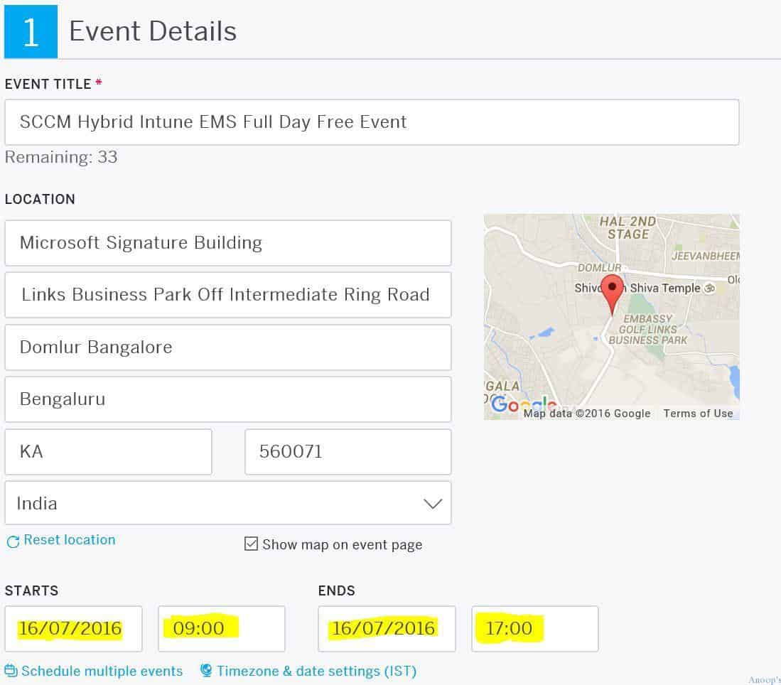 Free EMS SCCM Intune One Day Training at Microsoft Office Bangalore 1