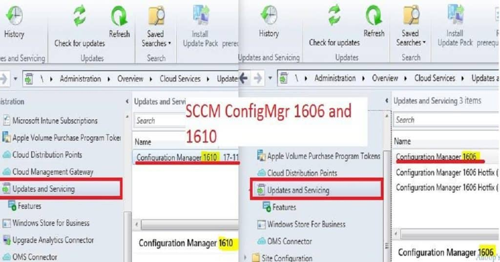 Feature Comparison Video Between SCCM ConfigMgr CB 1610 and 1606 1