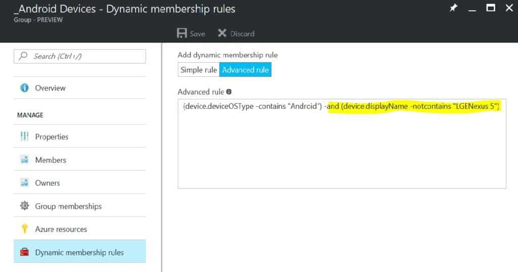 How to Exclude a Device from Azure AD Dynamic Device Group 2