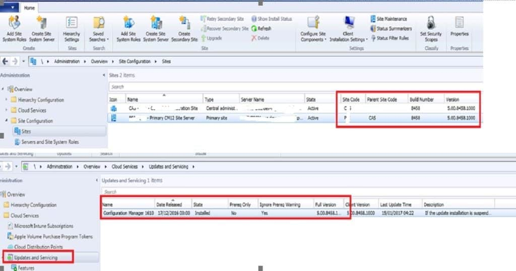 SCCM 2012 to CB upgrade checklist