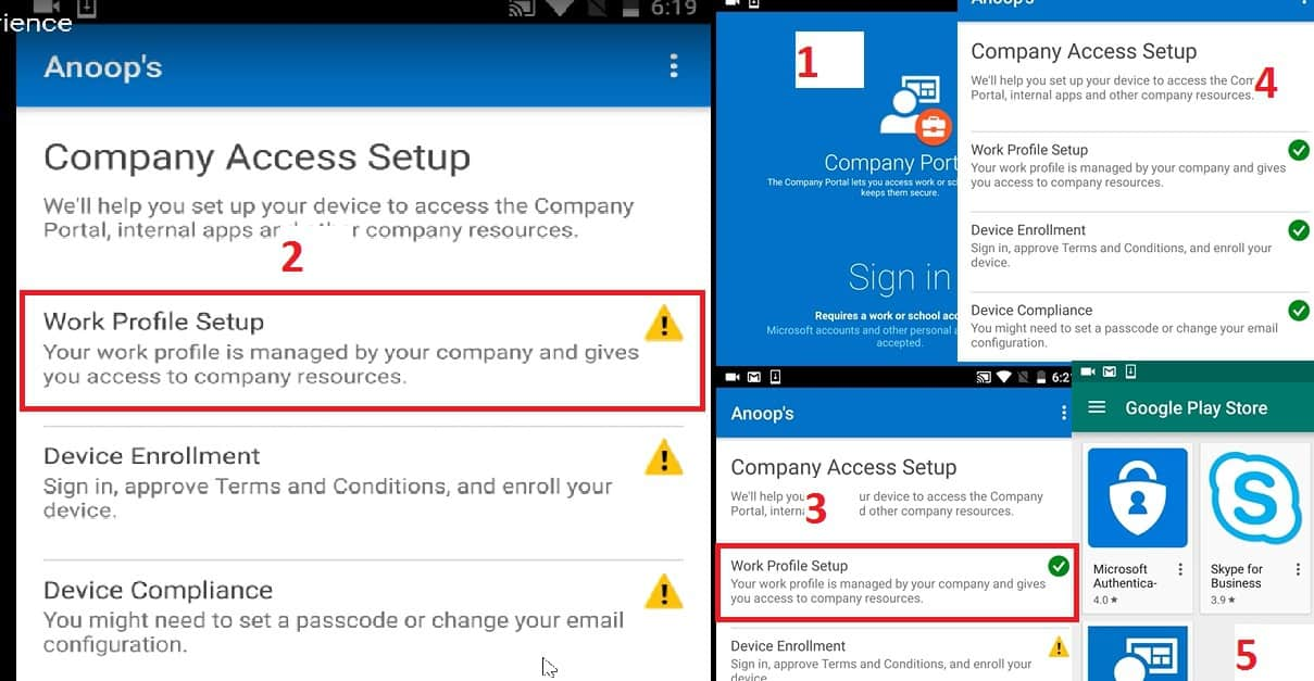 Beginners Guide Intune Android for Work and Google Play for