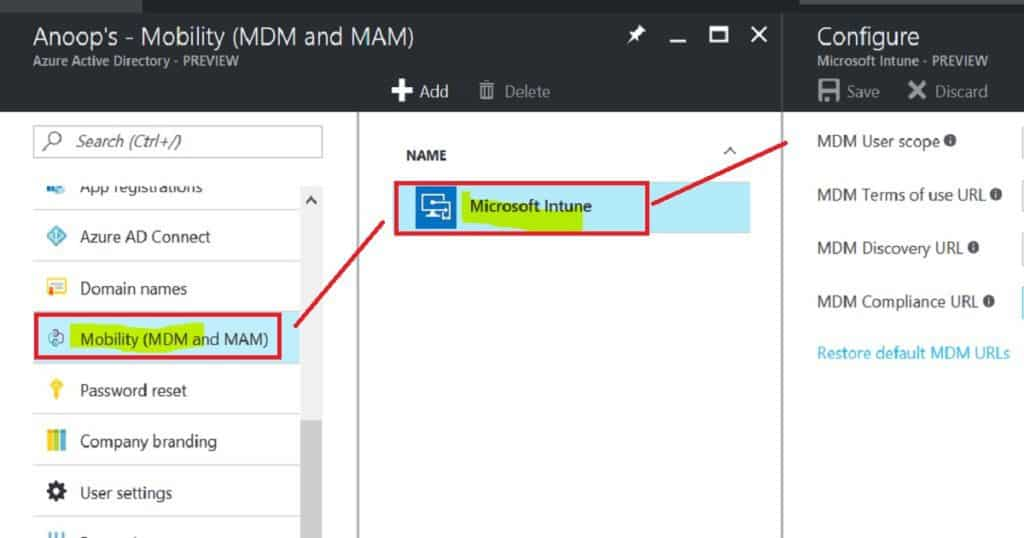 How to Configure Automatic Intune MDM Enrollment from Azure Portal 3