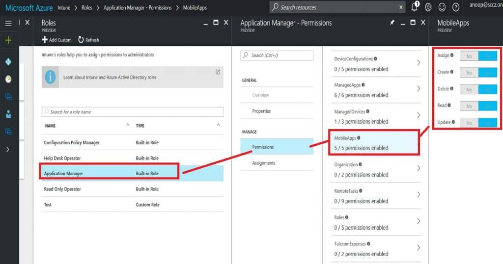 Intune Application Policy Manager RBA Controls In Azure Portal 1