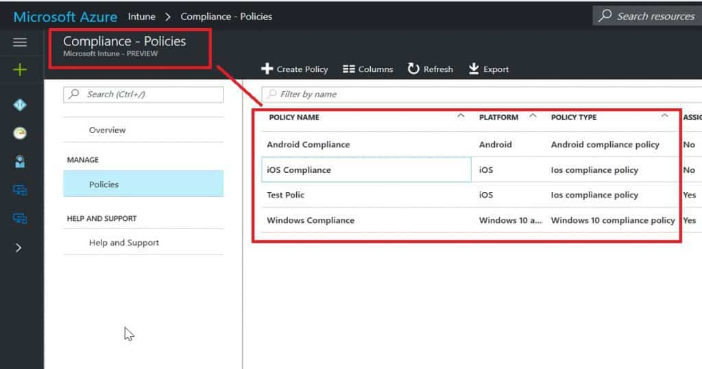 Intune Role Based Administration RBAC In Azure Portal 1