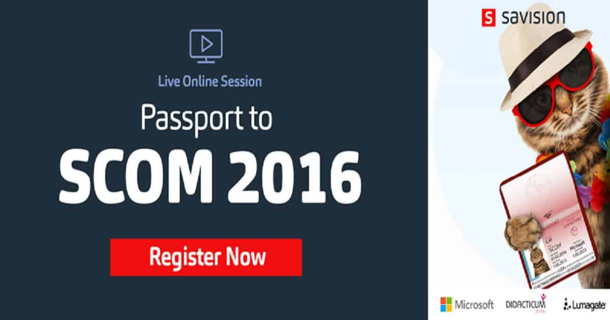 Get your Passport to SCOM 2016 1