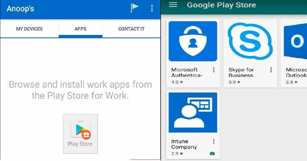 Intune How to Enroll Android for Work Supported Devices for Management 5