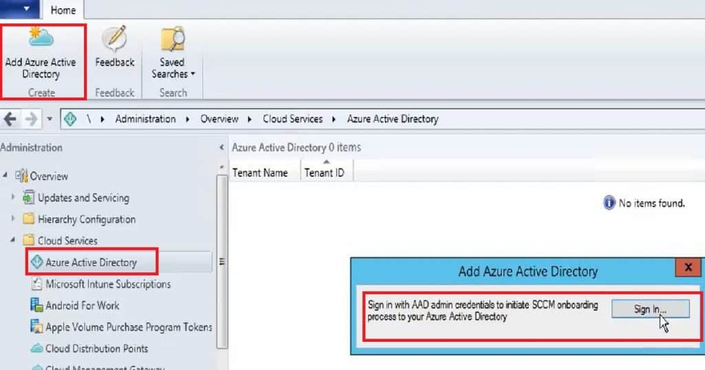 How to Integrate ConfigMgr SCCM CB 1702 TP with Azure AD 1