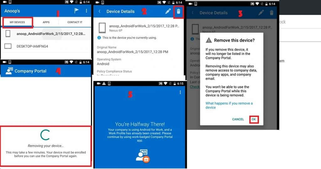 How to Remove Work Profile from Intune Managed Android Devices 3