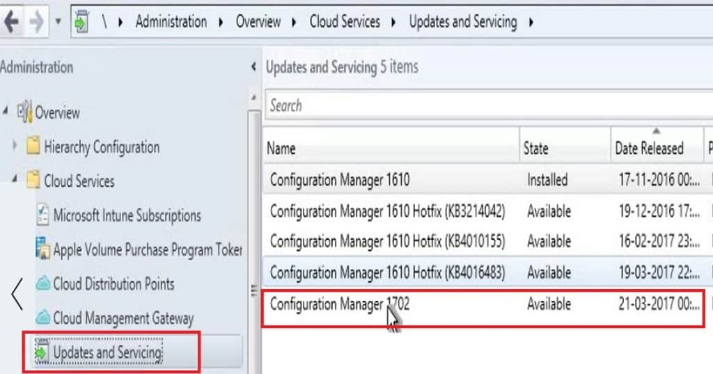 How to Perform SCCM ConfigMgr CB Production upgrade to 1702 Video Tutorial 1
