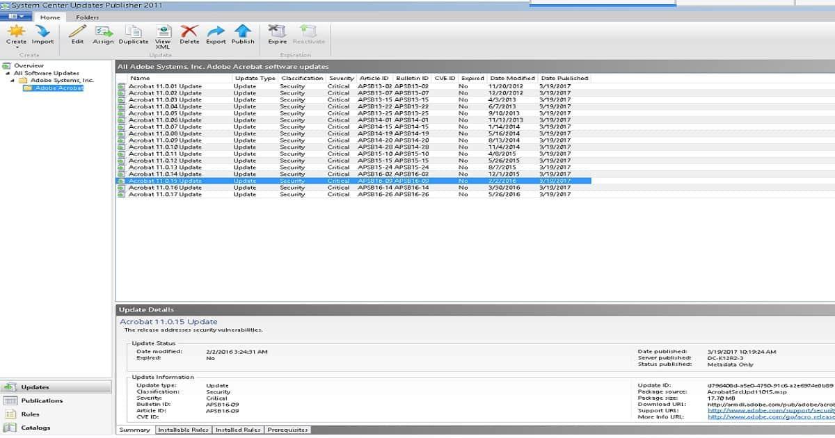 Adobe Update Server Address