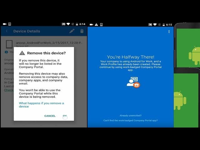 How to Remove Work Profile from Intune Managed Android Devices 1