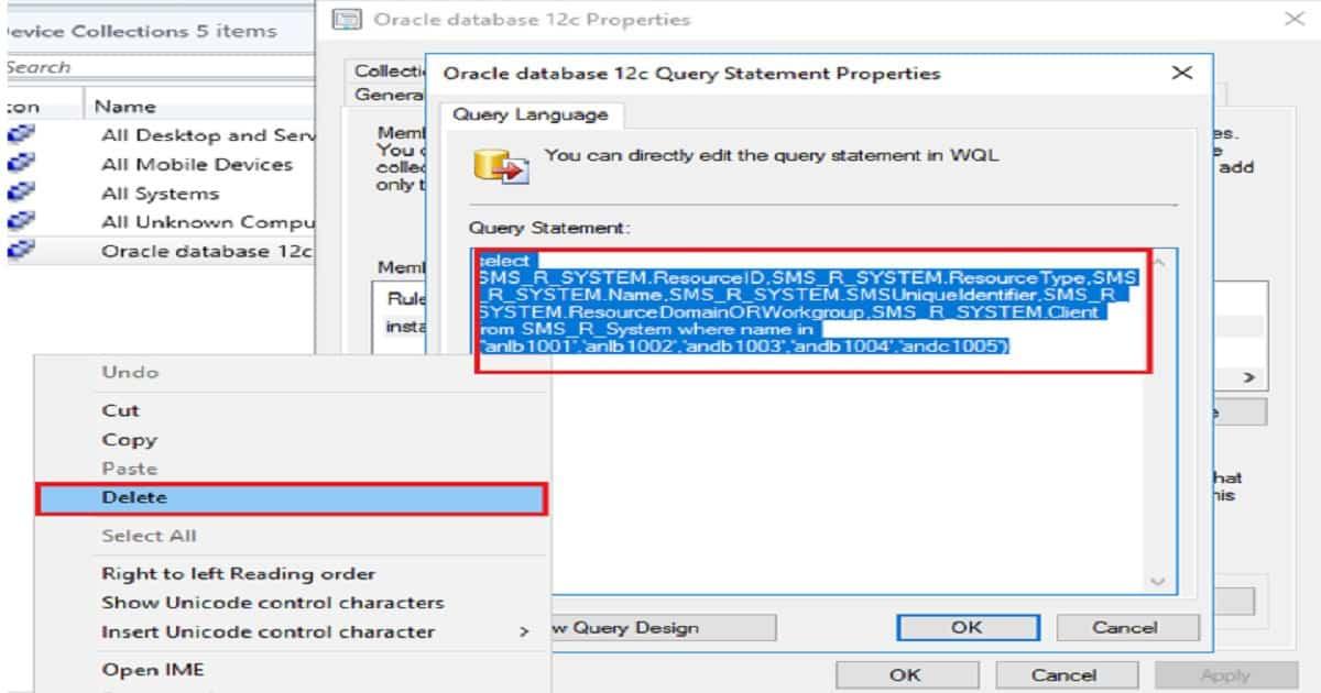 Collection queries sccm 2012