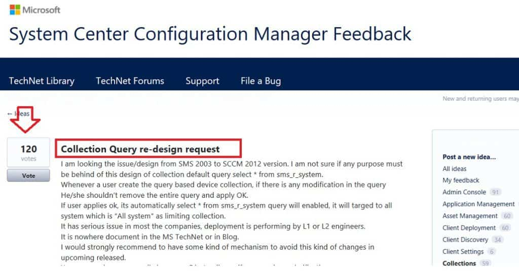 SCCM Dynamic Collection Query Update Known Issue 1