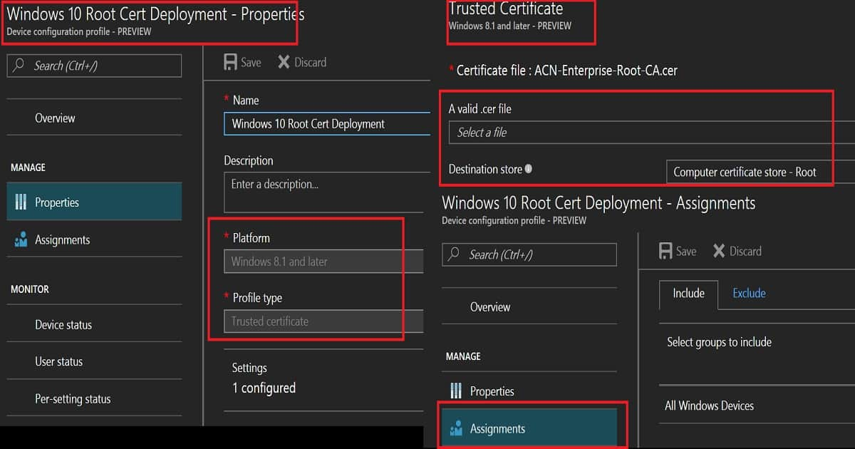 Intune Create Deploy Scep Certificate To Windows Devices