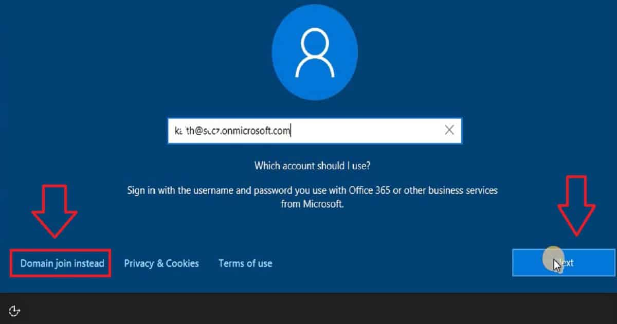 connect to azure domain windows 10