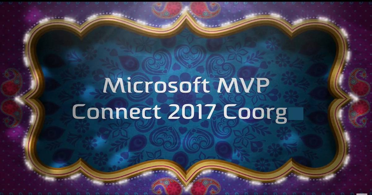Microsoft MVP Community Connect India