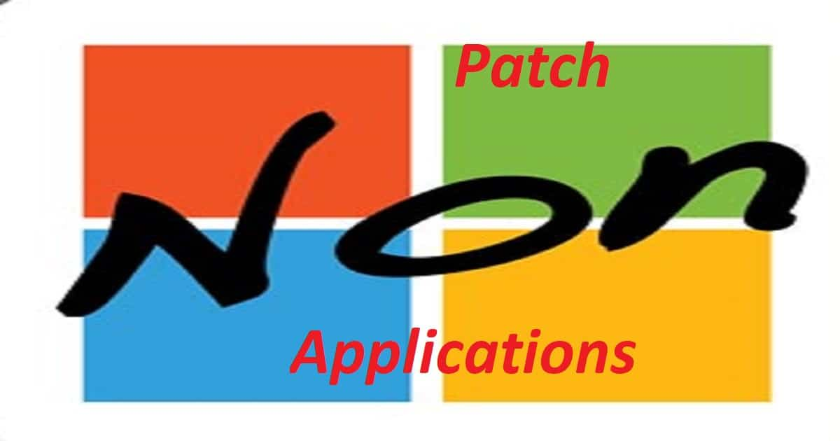 Third-Party Updates Patch NON Microsoft Apps