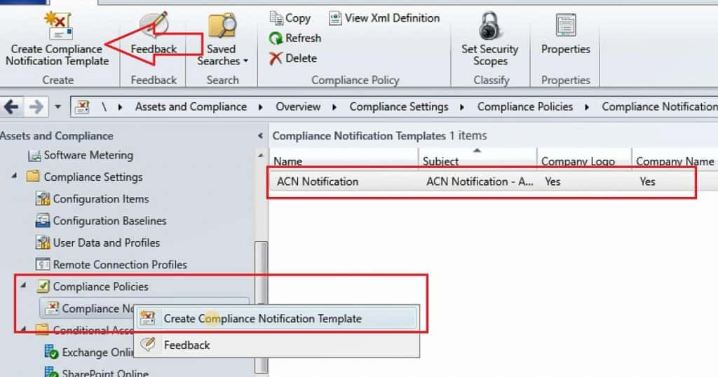 SCCM CB Compliance Notification Alerts
