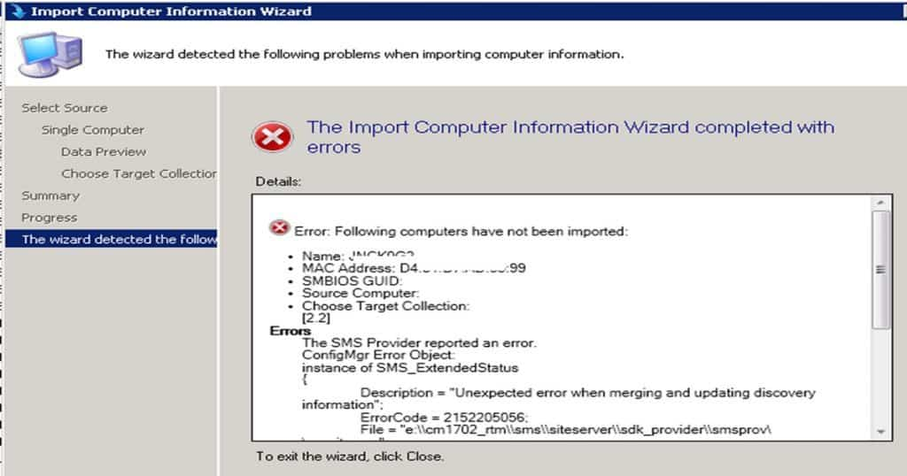 SCCM CB 1702 Upgrade of CAS and Primaries A Real world ExperienceError