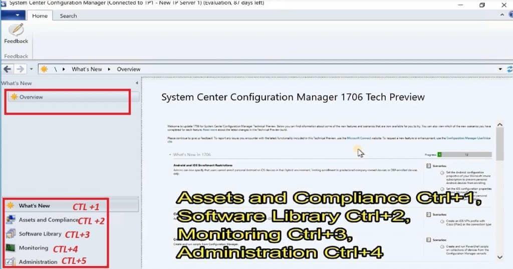 SCCM Console Keyboard Shortcuts_Workspace SCCM CB Console Keyboard Shortcuts Quick Video Guide Configuration Manager ConfigMgr MEMCM