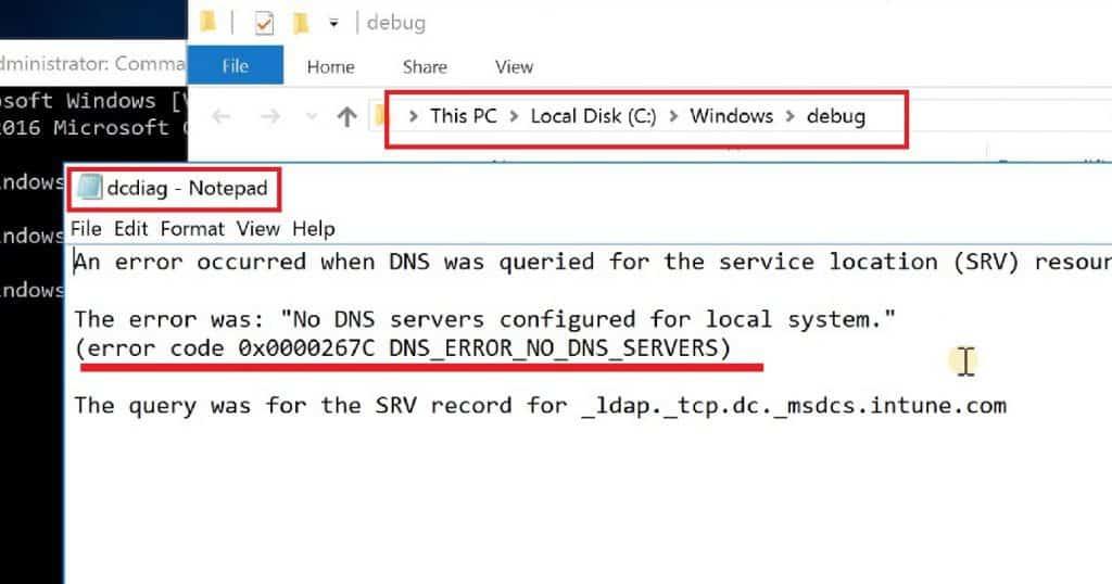 Server 2016 Domain Join Error NO DNS SERVER