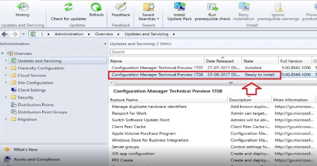 SCCM CB 1708 Preview Upgrade Video Guide