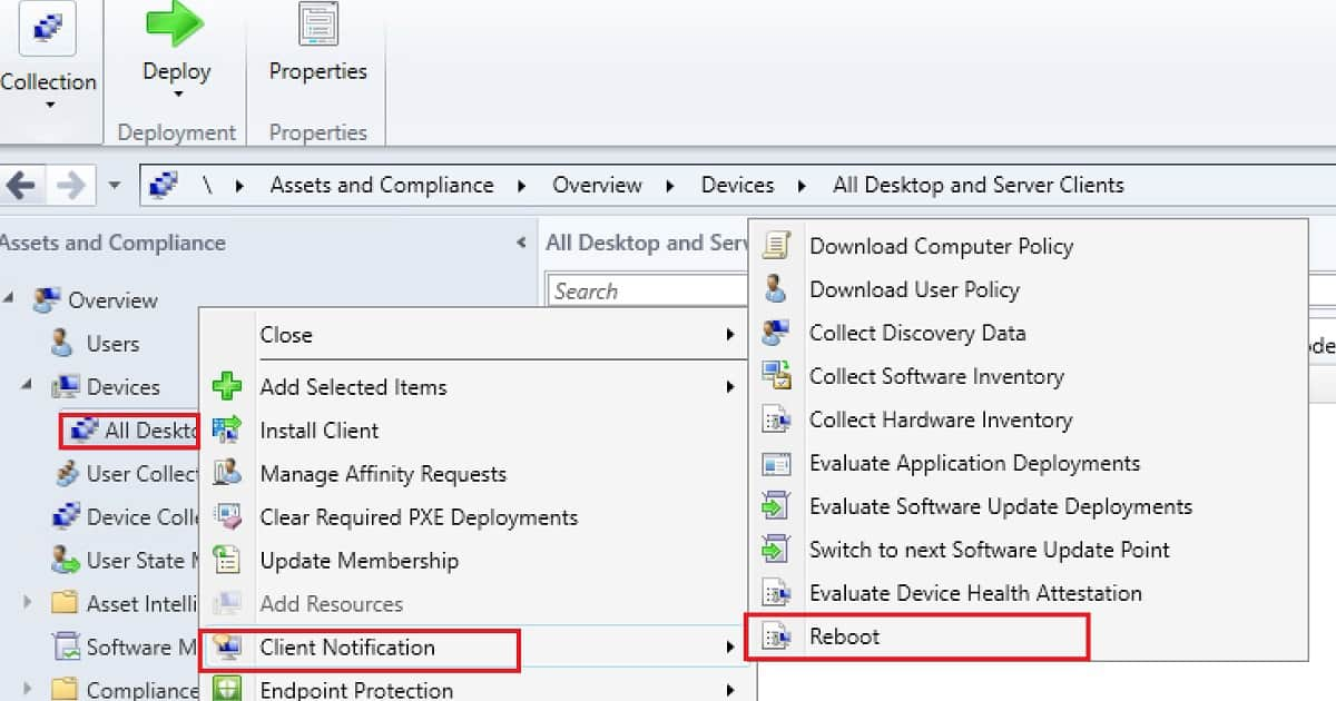 Video Experience of SCCM Reboot Task for Collection of