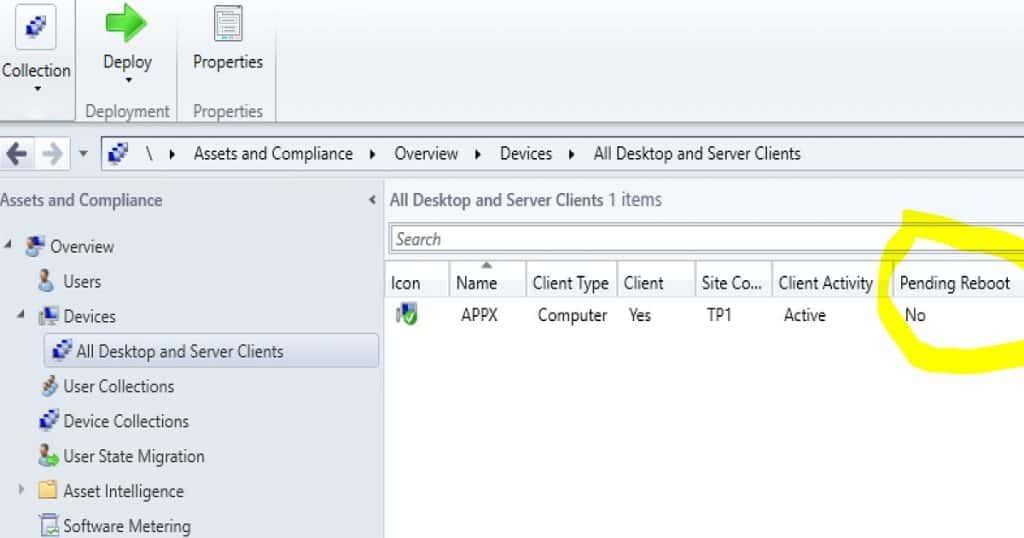 SCCM Reboot Task for Collection of Devices