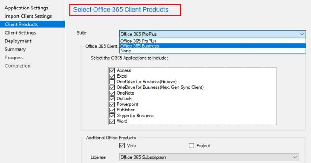 How to Deploy and Install Office 365 Applications via SCCM CB